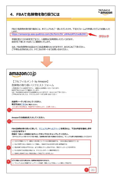 Amazon危険物商品のFBA利用申請
